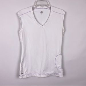 Alo Yoga Cool Fit White Sleeveless Athletic Top